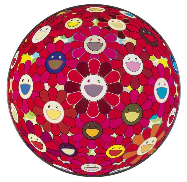 Takashi Murakami, 'Flowerball 3-D Red Cliff', 2008, Forum Auctions