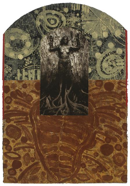 Juan Sanchez, 'Madre Selva', 2008, Print, Collagraph/Photolitho/Handcoloring on Handmade Paper, Wildwood Press