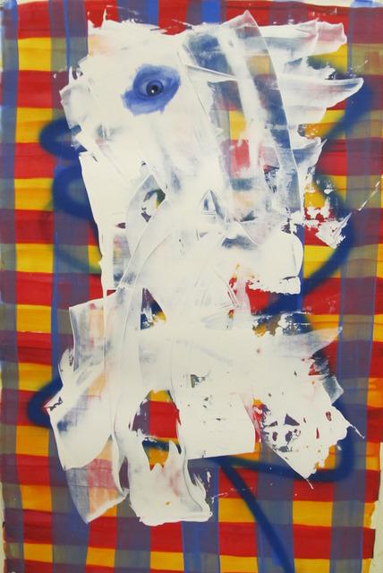 , 'Untitled Portrait with Blue Line and Drips,' 2001, envoy enterprises