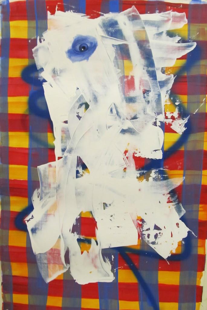 Ed Valentine, 'Untitled Portrait with Blue Line and Drips,' 2001, envoy enterprises