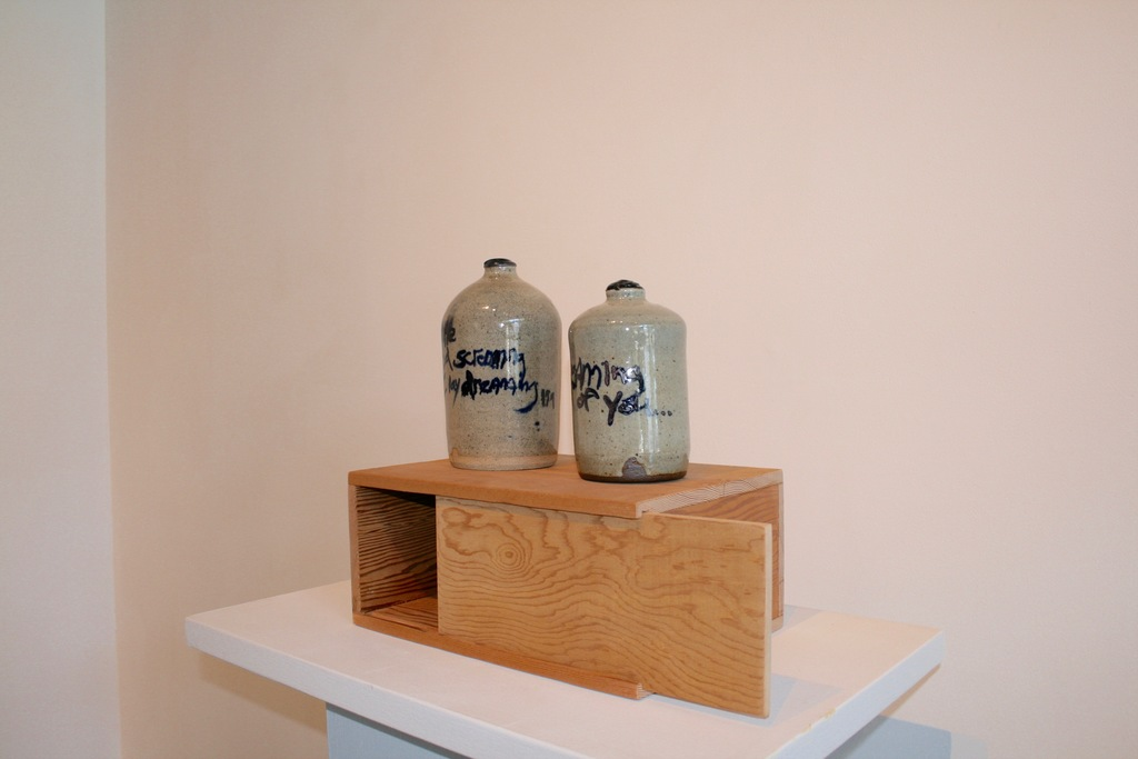 Nate Cassie, ceramic with artist made wood display case