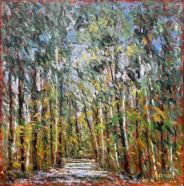 Samir Sammoun, 'The Green Forest Park Rhone', 2020, Painting, Oil on Canvas, Galerie d'Orsay