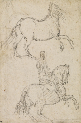 , 'Studies of Rearing Horse and Horseman,' ca. 1625-35, British Museum