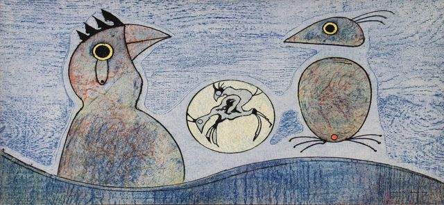 Max Ernst, 'Composition in Blue', (Date unknown), ArtWise