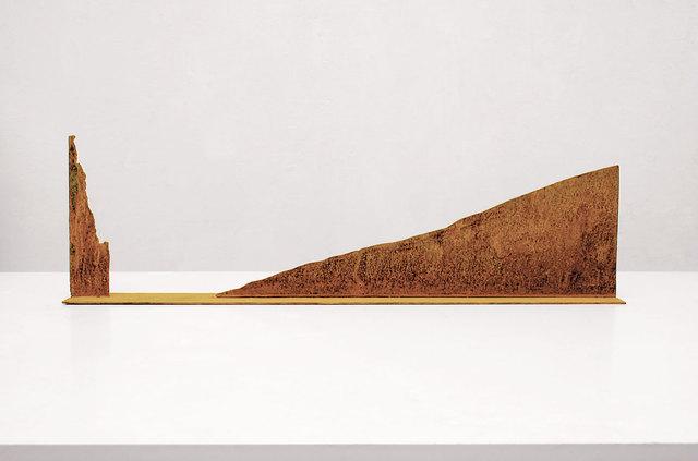 , 'Modell für eine Skulptur aus Corten-Stahl - Steil und sanft ansteigend,' 1992, Galerie Kellermann