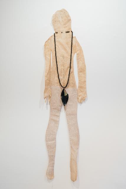 Cynthia Fusillo, 'My body is a diary', 2020, Mixed Media, Tea dyed paper, pen, marker, thread, ceramic beads, Galeria Contrast