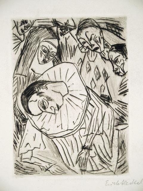 , 'Sterbender  Pierrot,' 1913, Henze & Ketterer