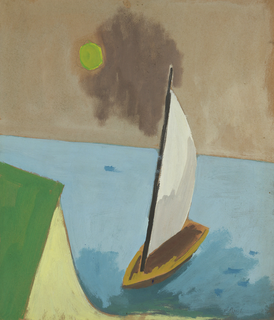 , 'Sailboat, Green Sun,' 1963, Debra Force Fine Art