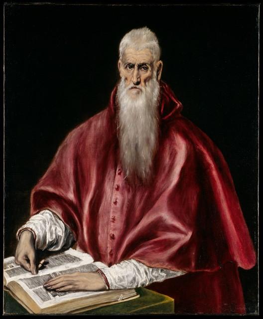 El Greco, 'Saint Jerome as Scholar', ca. 1610, The Metropolitan Museum of Art