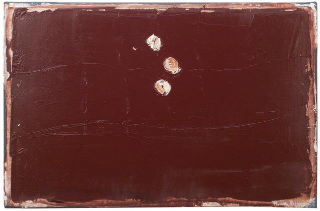 , 'Terra de siena amb punts blancs,' 2000, Galería Joan Prats