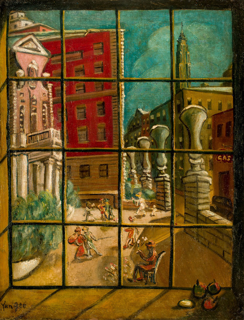 Yun Gee, 'New York Courtyard', 1951, Tina Keng Gallery