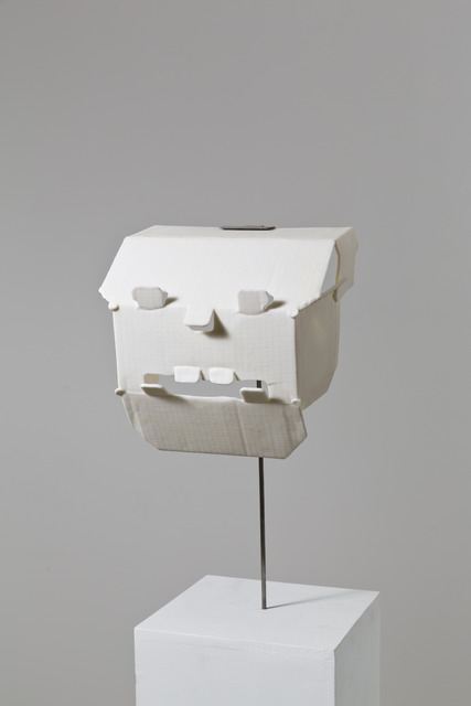 , 'Trying to build a mask out of a hard drive package,' 2013, kaufmann repetto