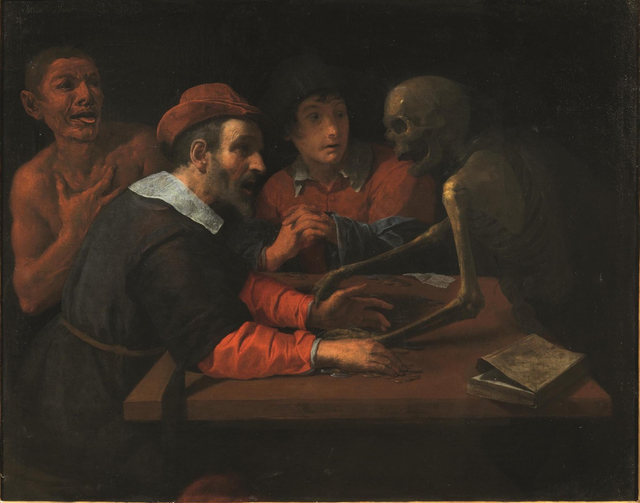 , 'Death comes to the table of the miser,' 1600-1700, Colnaghi