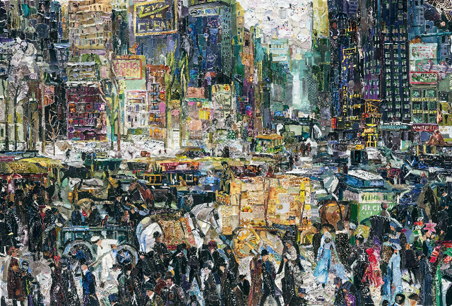 Vik Muniz, 'New York City, after George Bellows (Pictures of Magazines 2)', 2011, IFAC Arts