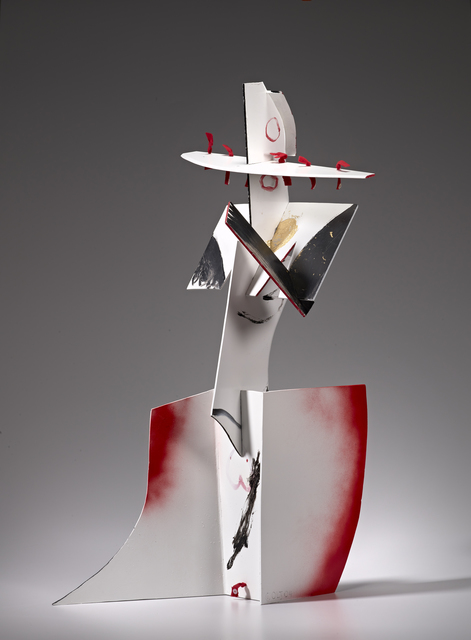 , 'Striding Figure,' 2004, Burning in Water