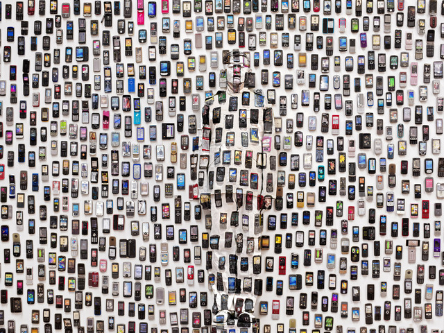 , 'Hiding in the City - Mobile Phone,' 2012, Eli Klein Gallery