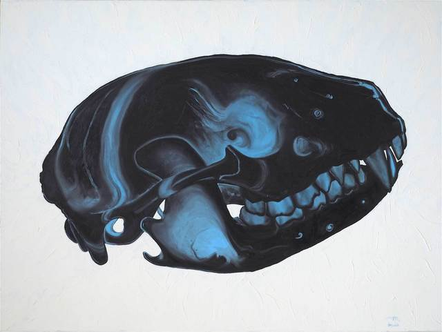 Ray Cicin, 'Black & Blue', Painting, Oil on gessoed rag paper, Maison Depoivre