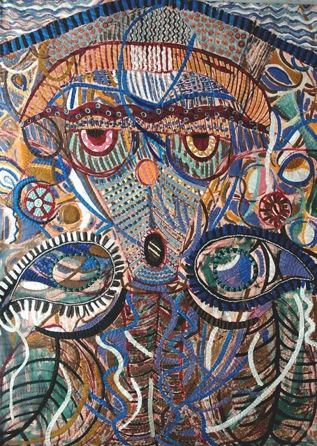 , 'Red-eye mask,' 1994, Pacita Abad Art Estate