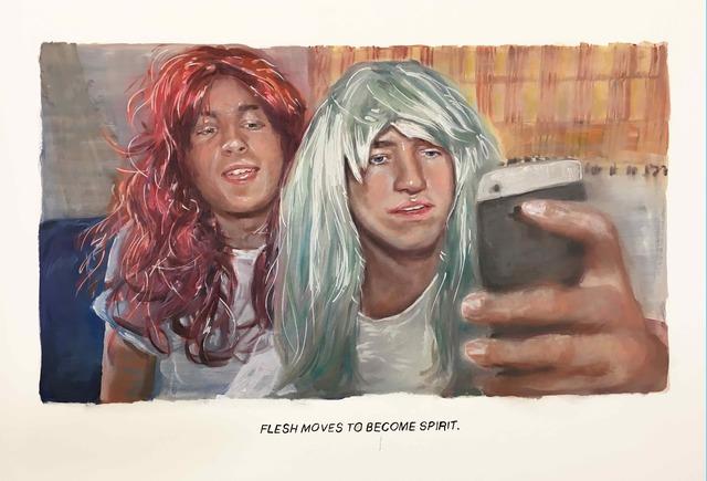 , 'Untitled (Flesh moves...),' 2018, Galerie Ron Mandos