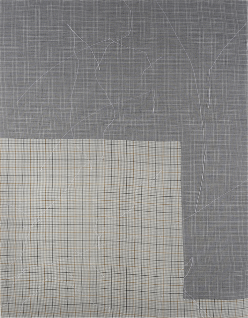 Fay Shin, 'Air and Grid', 2019, Painting, Man suit, silk thread, GALLERY SU: