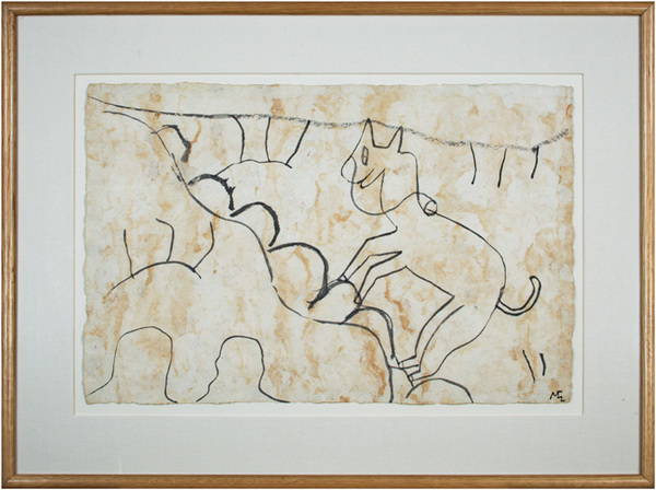 , 'Animal Climbing a Mountain,' 1991, David Barnett Gallery