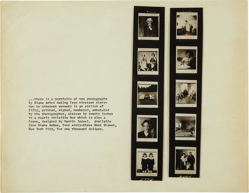 Promotion Flyer for 'A Box of Ten Photographs