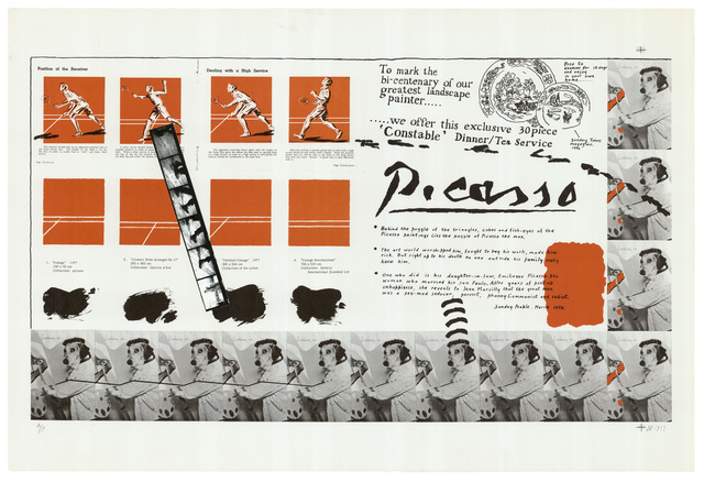 Derek Boshier, 'Public Palette', 1977, Print, Lithograph printed in colours with photo collage., Sims Reed Gallery
