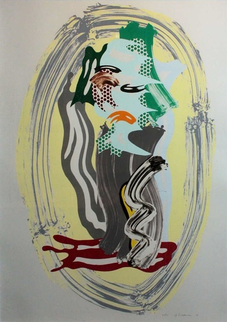 Roy Lichtenstein, 'Green Face, from Brushstroke Figures', 1989, Print, Lithograph, Waxtype, Woodcut and screenprint on 638-g/m2 cold-pressed Saunders Waterford paper, Gregg Shienbaum Fine Art