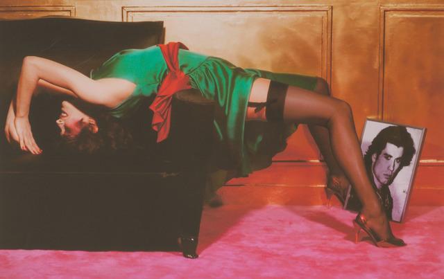 Guy Bourdin, 'Woman with portrait of John Travolta', Doyle