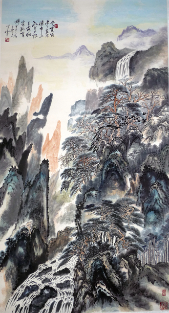 , 'Spring of clouds and green pines 云泉松翠图 ,' 2014, Tian Bai Calligraphy and Painting (天白書畫)
