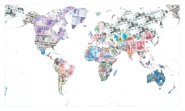 , 'Money Map of the World,' 2013, TAG Fine Arts