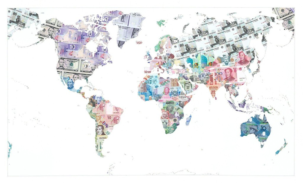 Justine smith money map of the world 2013 artsy justine smith money map of the world 2013 tag fine arts gumiabroncs Images