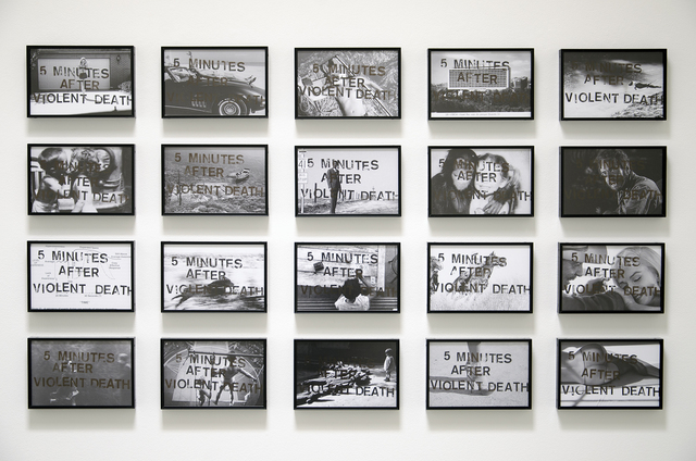 João Louro, '5 Minutes After Violent Death', 2014, Photography, Gelatin silver prints and permanent ink, Christopher Grimes Projects