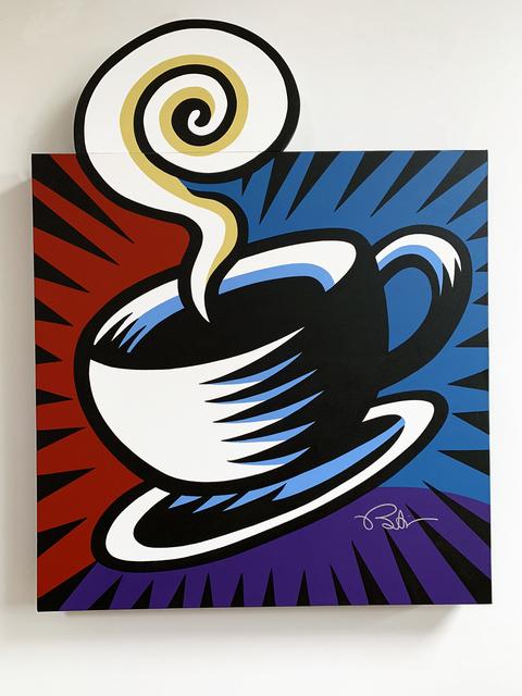 Burton Morris, 'Coffee Break - Blue', 2019, Taglialatella Galleries