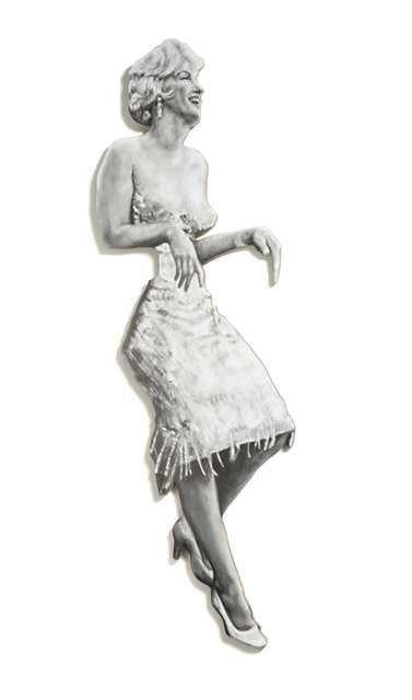 , 'Marilyn (Leaning Board II),' 2013, Cob