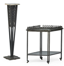 French Art Deco Pedestal And Tray Table