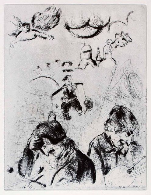 ", 'Gogol et Chagall - From the series ""Les Ames Mortes"",' , Wallector"