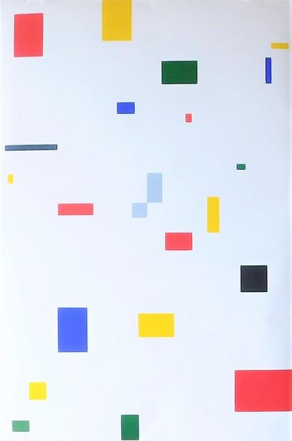 , 'El aumento de la linea en el espacio N.6 (sobre blanco),' 2017, Magreen Gallery