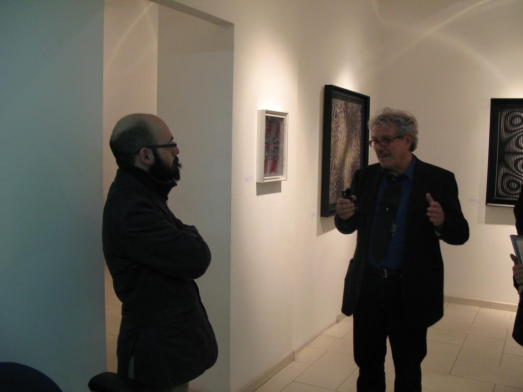 Alberto Biasi talking with Alberto Zanchetta. ALBERTO BIASI. Optical-dynamic Reliefs March 13, 2008 - April 30, 2008