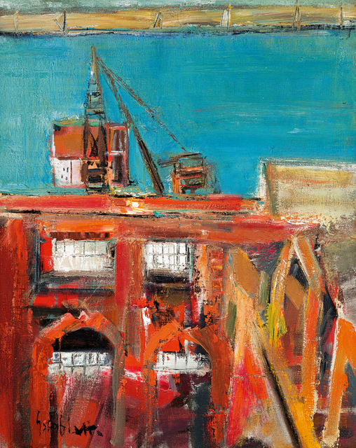 Sidney Goldblatt, 'Harbour, Cape Town', Strauss & Co