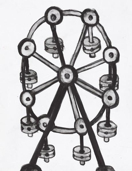 , 'Tinkertoy Ferris Wheel,' 2012, Creativity Explored