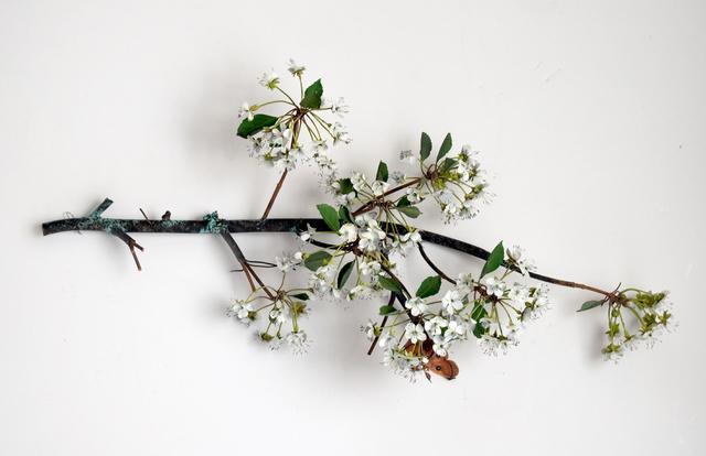 , 'Hanging Pear Blossom Branch with Linnaeus Moth,' 2019, Octavia Art Gallery