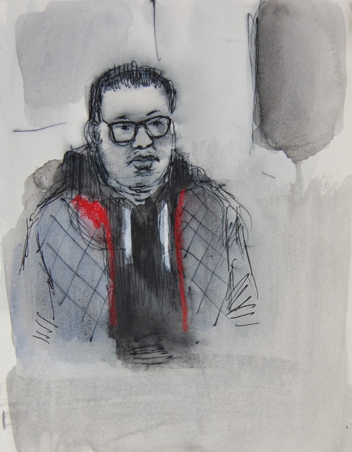 , 'Blue Jacket with Red Lining,' 2017, Ground Floor Gallery