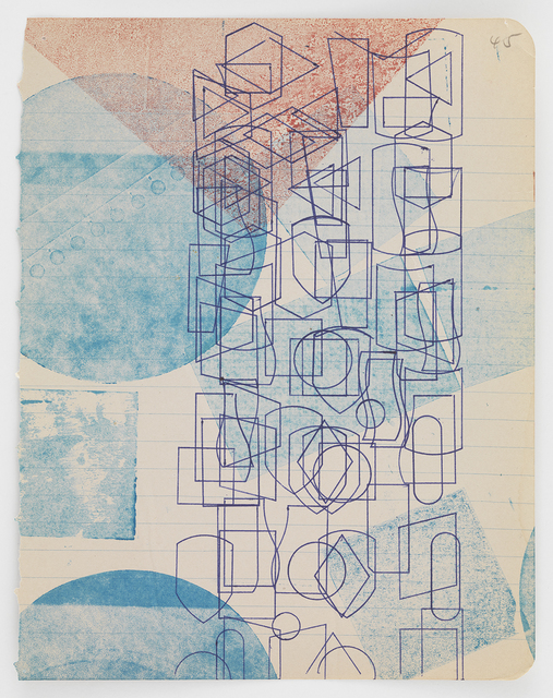 , 'Pen Stenciled Ghost-printed,' 2016, Morgan Lehman Gallery