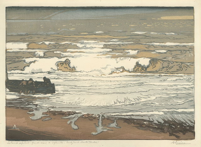 , 'Les Lames deferlent, Maree de Septembre(The Rolling Waves, September Tide),' 1901, Armstrong Fine Art