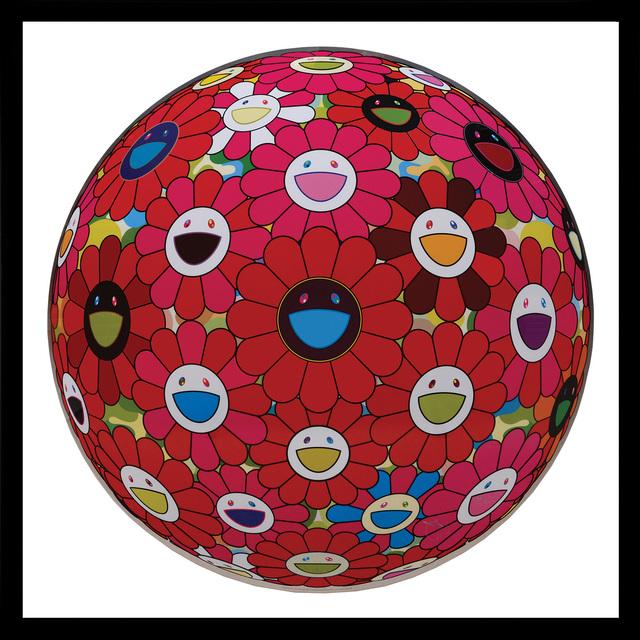Takashi Murakami, 'Flowerball (3D) Red, Pink, Blue.', 2013, Peter Harrington Gallery