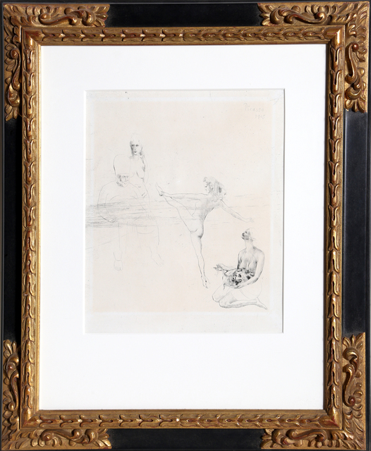 Pablo Picasso, 'Salomé from La Suite des Saltimbanques', 1905, Print, Drypoint Etching on van Gelder wover paper, RoGallery