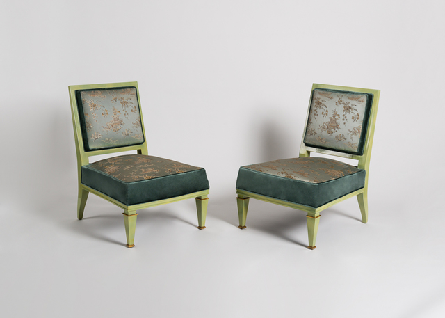 , 'Rare Pair of Slipper Chairs,' ca. 1945, Maison Gerard