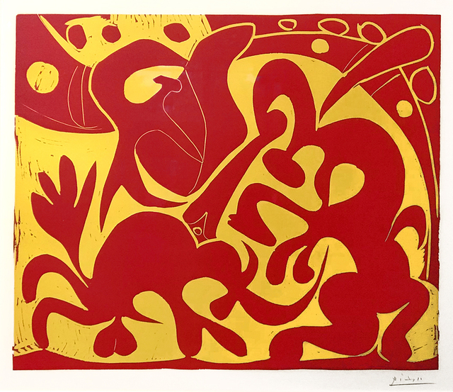 Pablo Picasso, 'La Pique en Rouge et Jaune (The Bullfight in Red and Yellow)', 1959, Masterworks Fine Art