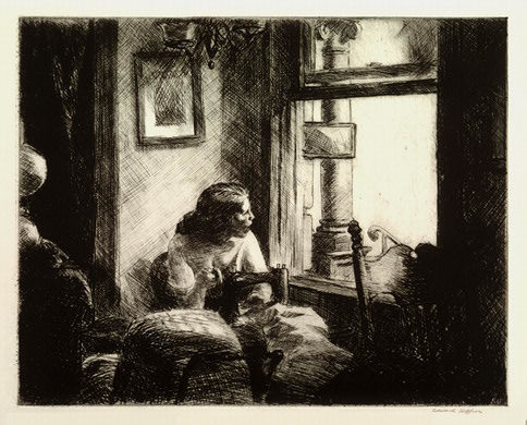 ", '""East Side Interior"",' 1922, Catherine E. Burns Fine Prints"